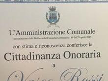 Vasco Rossi cittadino onorario di Finale Emilia