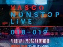 OGGI E DOMANI TUTTI AL CINEMA!!! VASCONON STOP LIVE '018+'019 TORNA PER 2 SOLI GIORNI AL CINEMA IL 10 E 11 DICEMBRE