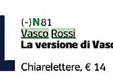 """""""La Versione di Vasco"""" entra subito nella classifica dei libri piu' venduti al n. 1 della sezione """"varia"""" o """"saggistica"""" e al n 4 della classifica generale"""
