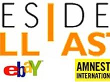 """La cravatta nera della foto di copertina di """"Vivere o Niente"""", il cd """"I soliti"""" e la speciale dedica di Vasco a """"Desideri all'asta"""" benefica su ebay a favore di Amnesty International..."""