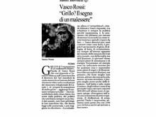 Rassegna Stampa - Vasco Rossi: 'Grillo? il segno di un malessere'