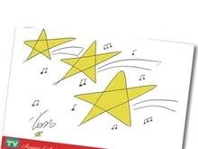 Le stelle di Natale con le note musicali disegnate da Vasco