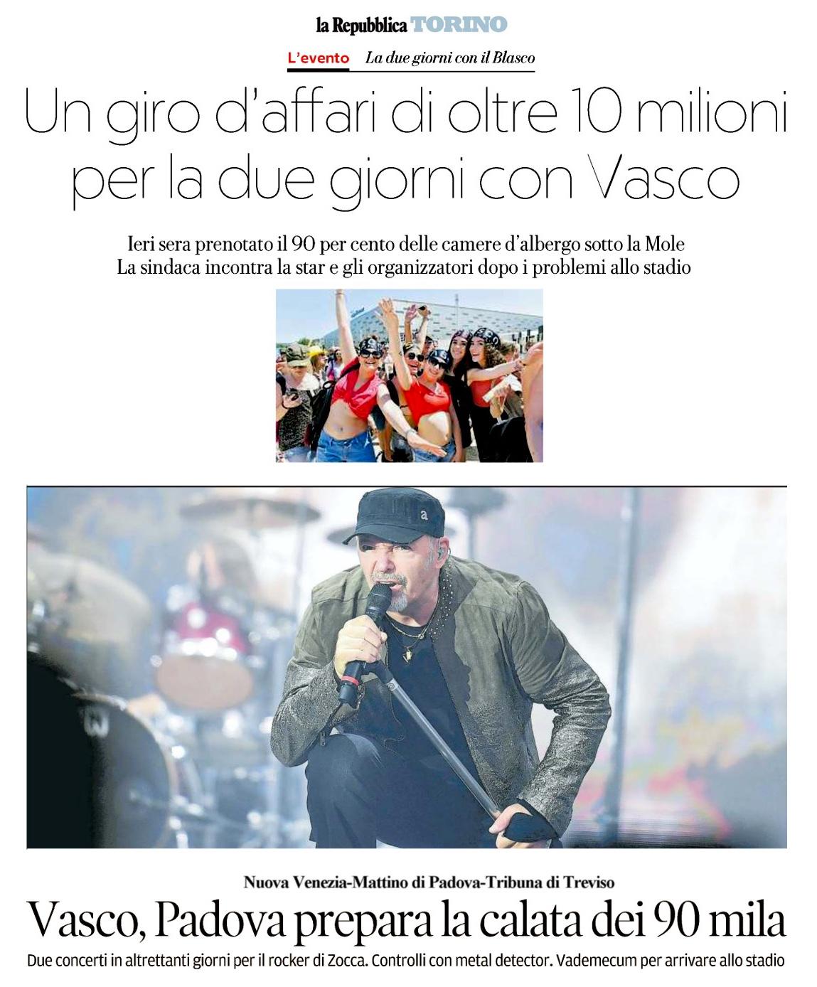 Vasco Rossi Dillo Alla Luna: Ciao Torino… Siete Belli E Siete Tanti